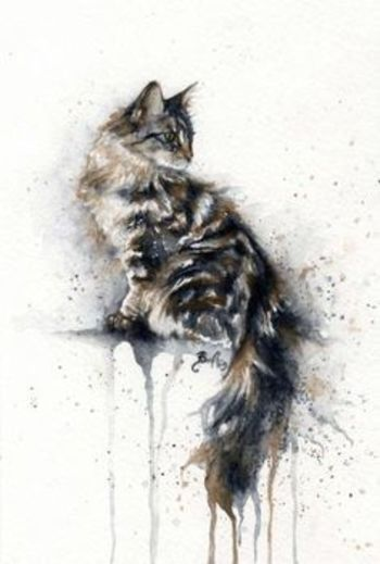 cat watercolor tattoo - Google Search