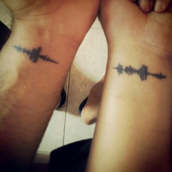 Wave sound of i love you tattoo..There are a lot of people who call you by your name..but there is on