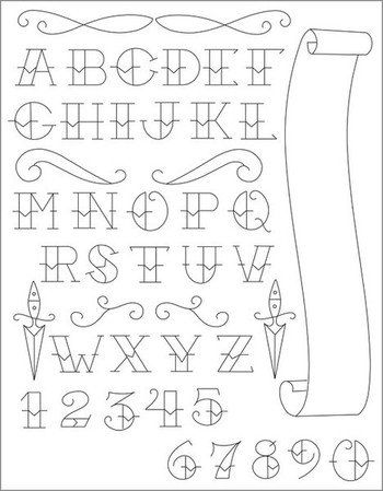 Sublime Stitching - TATTOO ALPHABET - Embroidery Patterns