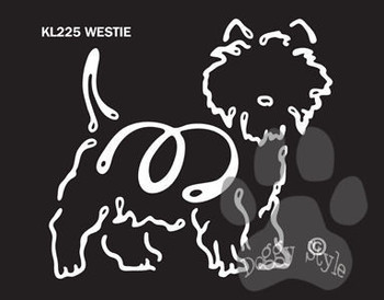 K Line West Highland Terrier Westie Dog Car Window Decal Tattoo