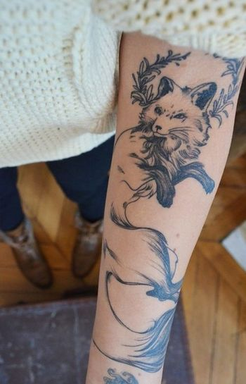 "Fox Tattoo: You know when you see a tattoo and it just clicks in your head... Like ""this is exactly w"