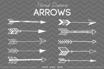 Hand Drawn Arrows Clip Art Vector