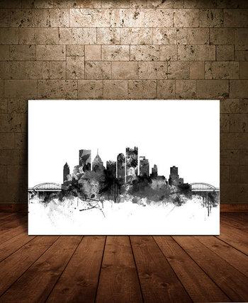 Pittsburgh Skyline Watercolor Print, Pittsburgh Pennsylvania Cityscape Art Print, Watercolor Skyline, Pittsburgh Silhouette (144)