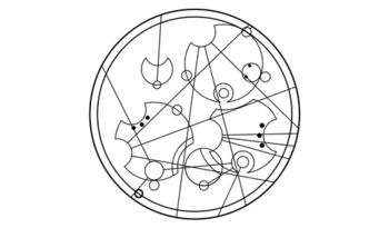 """It hurts because it matters"" in Circular Gallifreyan."