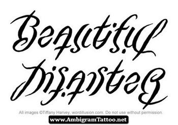 Ambigram Tattoos » Disaster Ambigram Tattoos 02