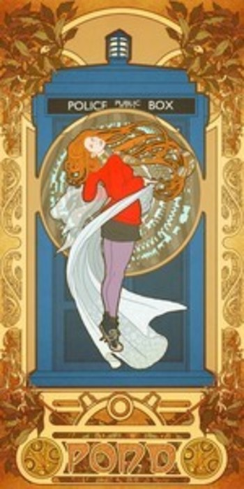 Dr. Who (Amy Pond) in the style of Mucha.
