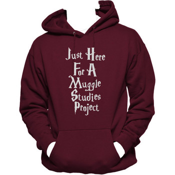 Just Here for a Muggle Studies Project Unisex Hoodie, Muggles Hoodie, Harry Potter-Back To School Sale