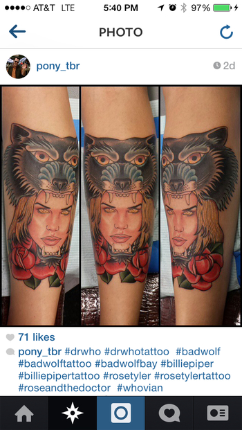 Bad Wolf, Dr. Who, Rose Tyler Tattoo.