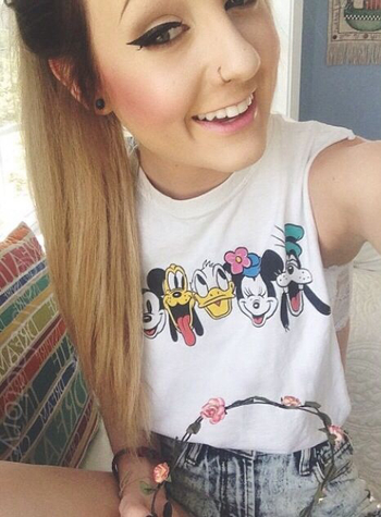 That shirt is perfect for when I go to disney next week
