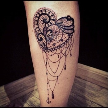 lace tattoo on Tumblr