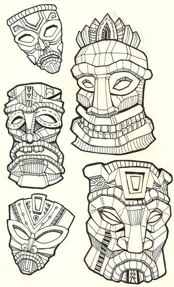 Tiki Masks by NajMeTender on deviantART