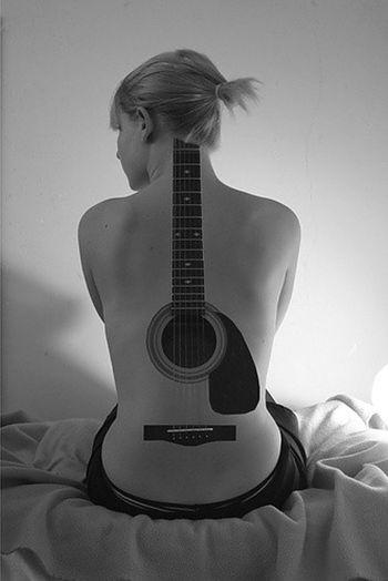 Guitar Tattoo / Body Paint - ( LARGE PHOTO )