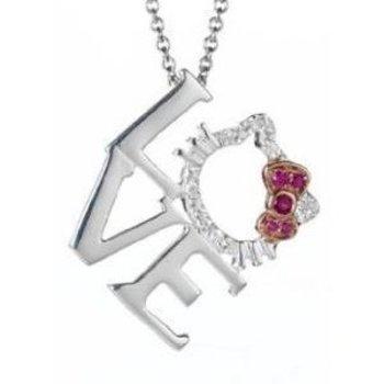 Amazon.com: Hello Kitty Rhinestones & LOVE Fashion Necklace~Cute Little Pendant: Jewelry