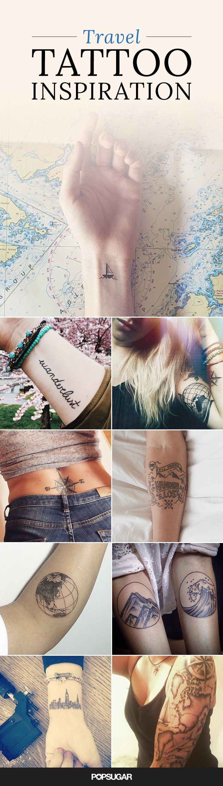 35 unique travel tattoos to fuel your eternal wanderlust original