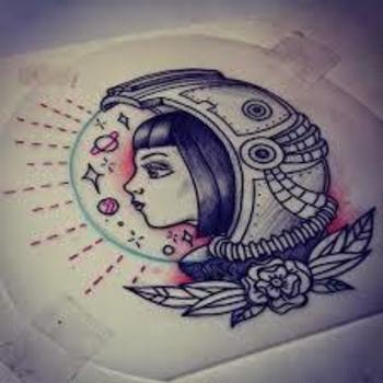 vintage astronaut tattoo - Buscar con Google