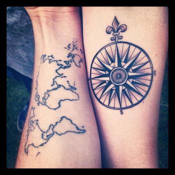 40+ Creative Best Friend Tattoos - Hative