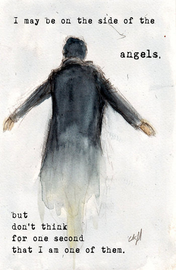 """Etsy : NEW """"Side of the Angels"""" BBC Sherlock """"The Fall"""" The Reichenbach Fall Art 5x7"""" Print Variant :"""