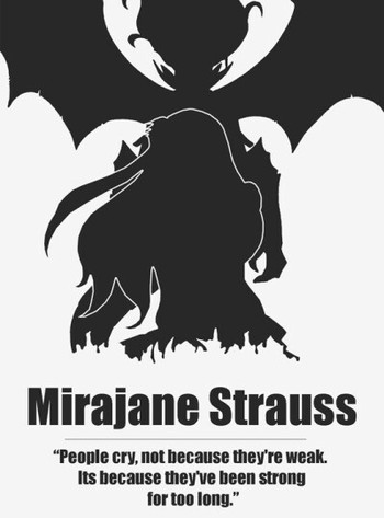 Fairy Tail's Mirajane Strauss She Uses A Magic To Make Her Transform She's Also In Fairy Tail But Isn