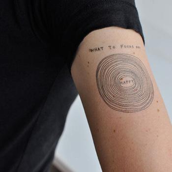 David Shrigley tattoos