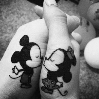 I think this is what Brandon and I are going to get for our third anniversary :) Mickey and Minnie ha