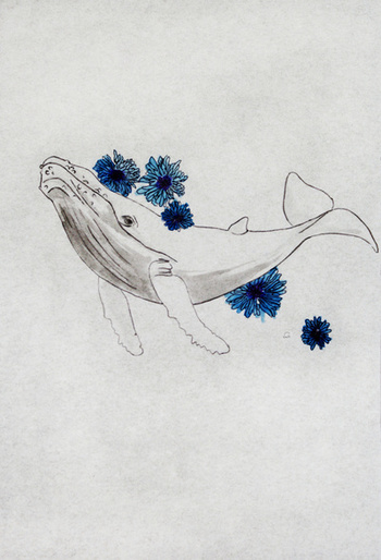Blue Whale Art Print by Celia Libelle | Society6