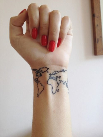 I will get one like this once i travel the world! to remind me of them all at one glance