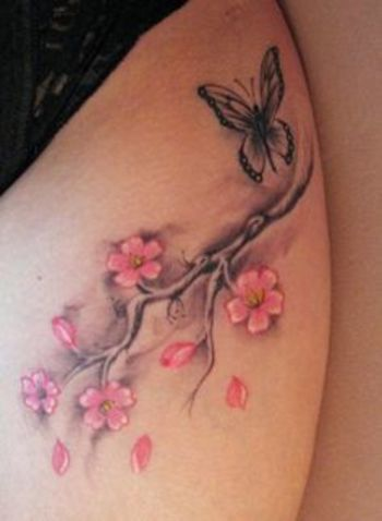 cherry branch tattoo - Google Search