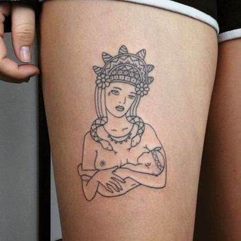 Ladies Are Sticking It To The Man With The Resurgence Of This DIY Tattoo Style