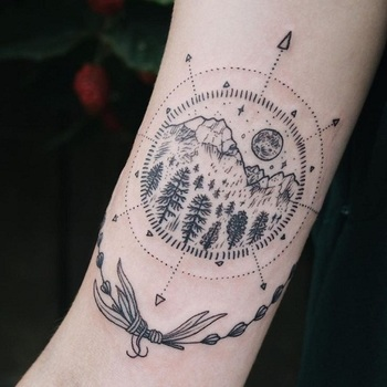 mountain and forest tattoos - Google Search