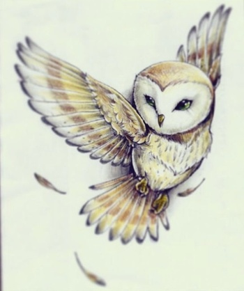 Owl Tattoo - reminds me of the one in labyrinth