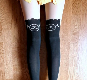 Alpaca Alpacasso Arpakasso Llama Lama Knee High Hosiery Pantyhose Tattoo Socks Leggings Tights Stockings