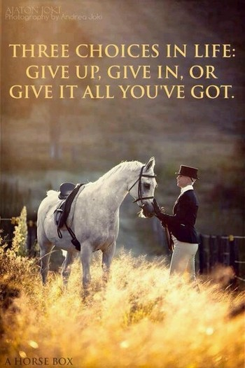 three choses in life: Give up, Give