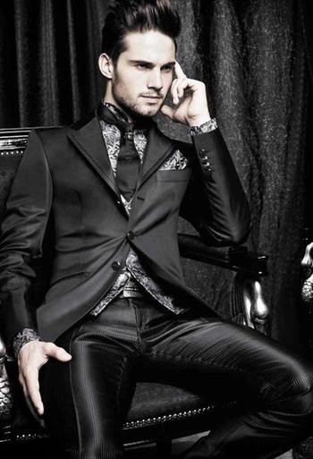 Elegant take on evening wear.
