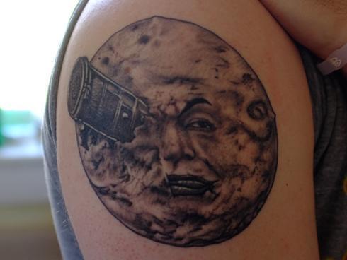A pop reader shows off his hugo inspired tattoo original
