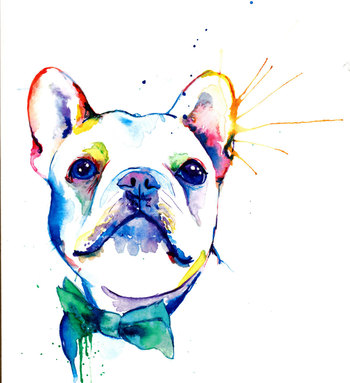 French Bulldog Frenchie Art Print Print of by WeekdayBest on Etsy