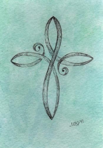 Infinity Cross.... i really think my bestfriend @Dakota Stuart Davis should get this as a tat... it f