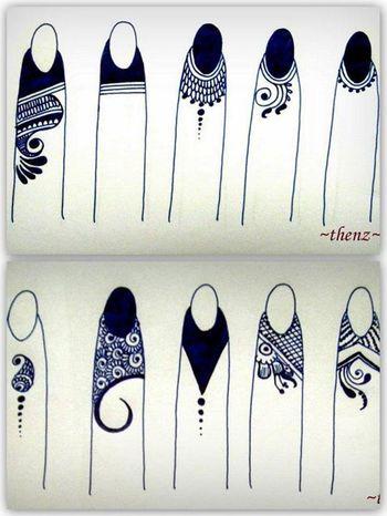Fingertip henna #festivalbound