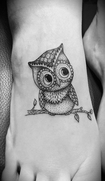 Inspiring Simple and Cute Owl Tattoo Designs ~ Inspiration Wings