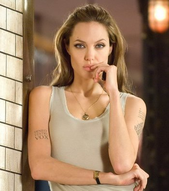 20+ Amazing Angelina Jolie Tattoos Pictures