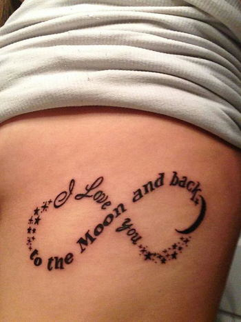 20+ I Love You to The Moon and Back Tattoo Ideas - Hative