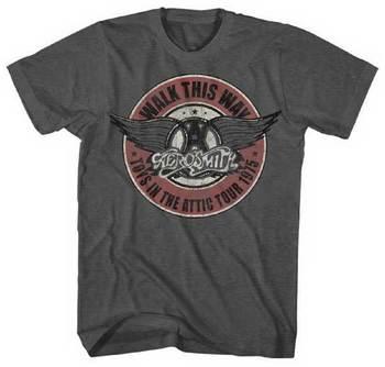 Aerosmith T-shirt - Vintage Style - Vintage Band Tees 1975 Walk This Way - http://www.band-tees.com/s
