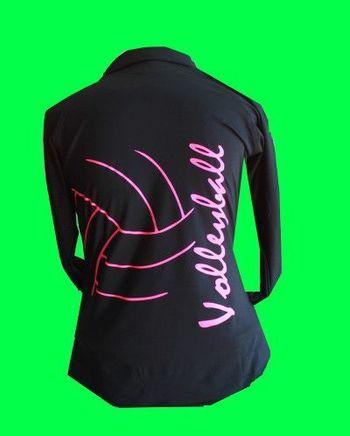Black Fleece Lined Volleyball 1/2 Zip