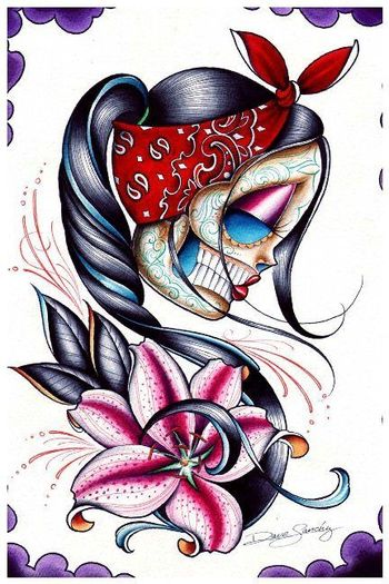 Tattoos _The Tattoo Shop Dave Sanchez - Star Gazer Tattoo Print. Like this design if the face was nor