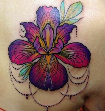 Watercolor Flower Tattoo by Jessica Lee Peltier - TATTOOBLEND