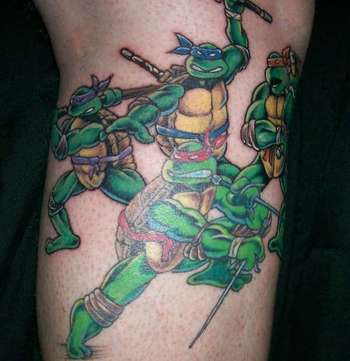 Teenage Mutant Ninja Turtles Tattoo... Abram would love for his daddy to get this! Lol