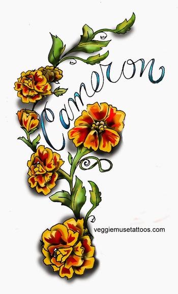 VeggieMuse Tattoos: October Birth Month Flower -
