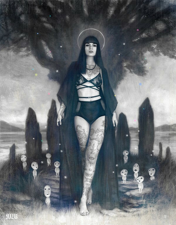 Tom Bagshaw's art always makes me think of Stacia Kane's Downside Ghosts series