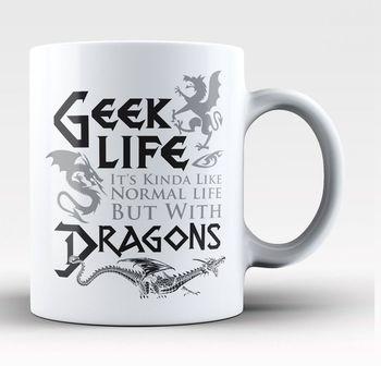 Geek Life With Dragons - Mug