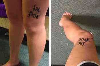 A Girl Got A Clever Tattoo To Get The Conversation Going About Depression