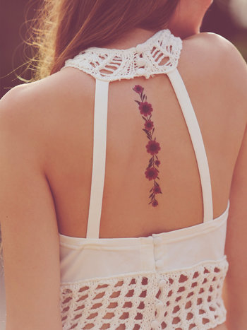 Free People Dried Flower Tattoos